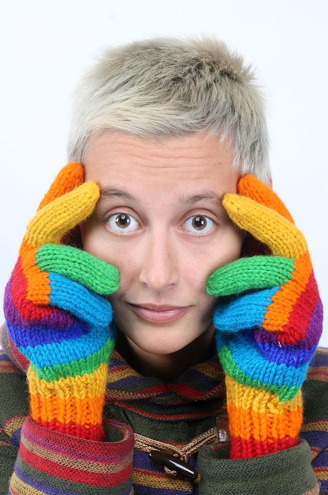 перчатки rainbow радужные